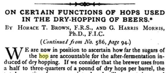 """How """"Dry Hop Creep"""" Causes Diacetyl In Beer and How Brewers"""